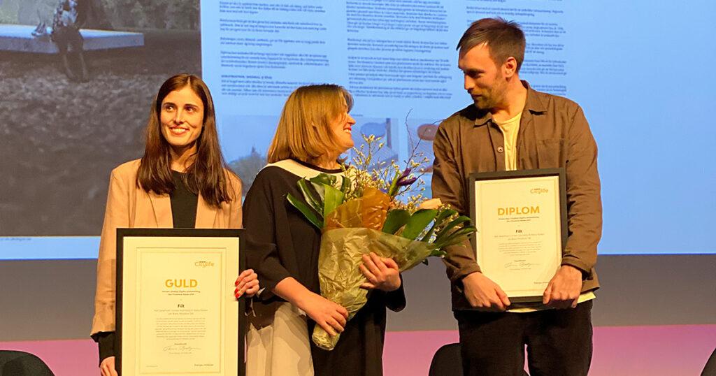 Vinnare i Smekab Citylife arkitekttävling Den trivsamma staden, prisutdelning på Stockholm Furniture Fair 2020-02-06.