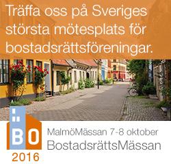 Bostadsrättsmässa Malmö oktober 2016