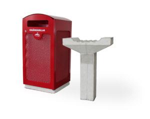 Grillbert - En stabil och brandsäker hållare avsedd för grillning med engångsgrillar. Ett bra komplement till Grille.