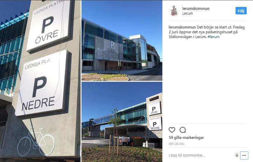 Nytt parkeringshus i Lerum