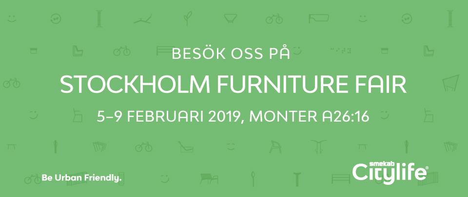 Besök oss på Stockholm Furniture Fair 5-9 februari 2019, Monter A26:16