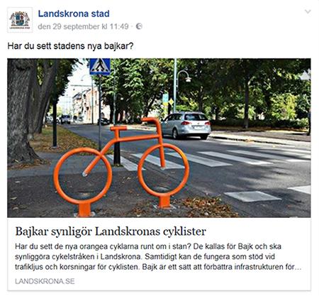BAJK by Smekab synliggör Landskronas cykelstråk