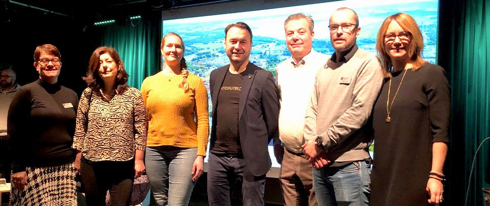 Tre vinnande företag i Cykelutmaningen 2019 - Cykla till jobbet, Kristianstad kommun. Foto Kristianstad kommun.