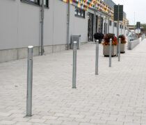 Kristianstads Arenaområde, Diagonal pollare, Smekab Citylife.