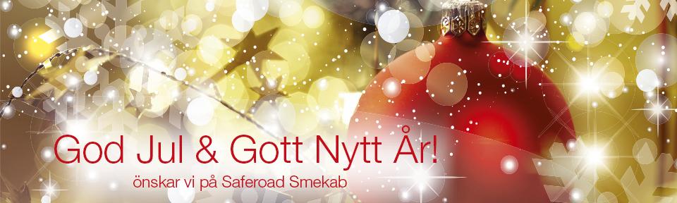 God Jul och Gott Nytt År önskar vi på Saferoad Smekab