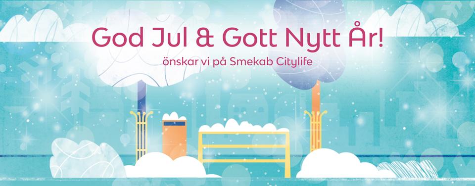 God Jul & Gott Nytt År önskar Smekab Citylife