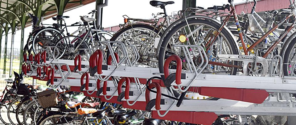 Malmö Centralstation cykelparkering, Easylift Premium tvåvåningscykelställ