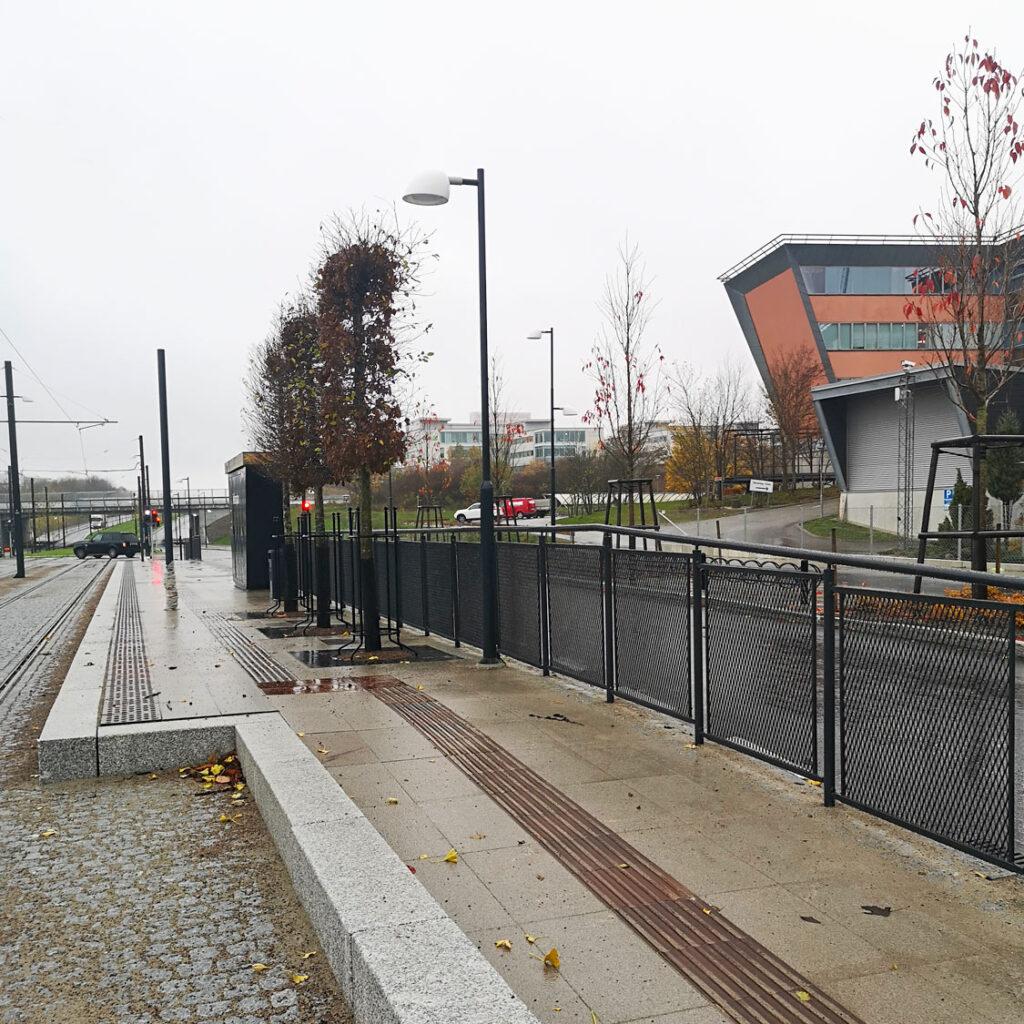 Opti räcke projektanpassat för Spårvägen Lund C - ESS.