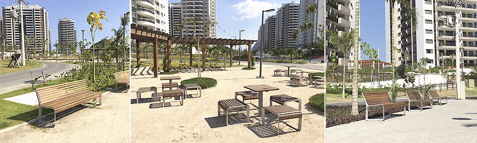 Parkmöbler från mmcité möblerar OS-byn i Rio de Janeiro 2016