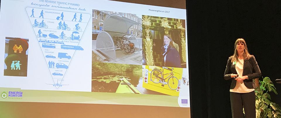 Hållbart resande diskuterades på Plusenergiforum 2017.