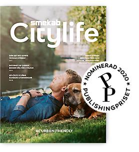 Magalog Smekab Citylife 2020.01 nominerad för Svenska Publishingpriset oktober 2020.