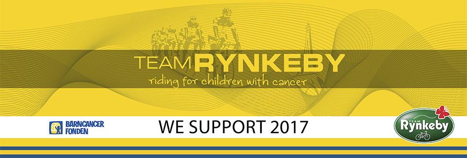 Vi stödjer Barncancerfonden och Team Rynkeby Kristianstad