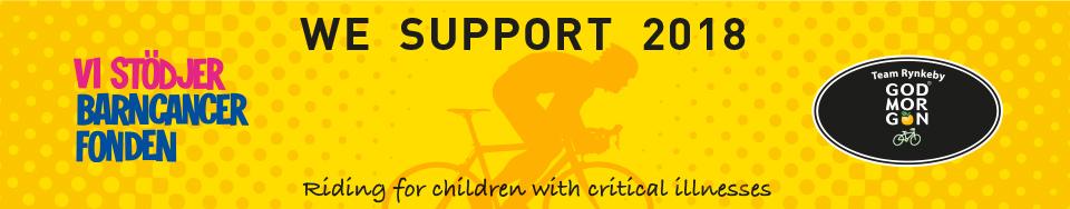Vi stödjer Barncancerfonden och Team Rynkeby Kristianstad 2018