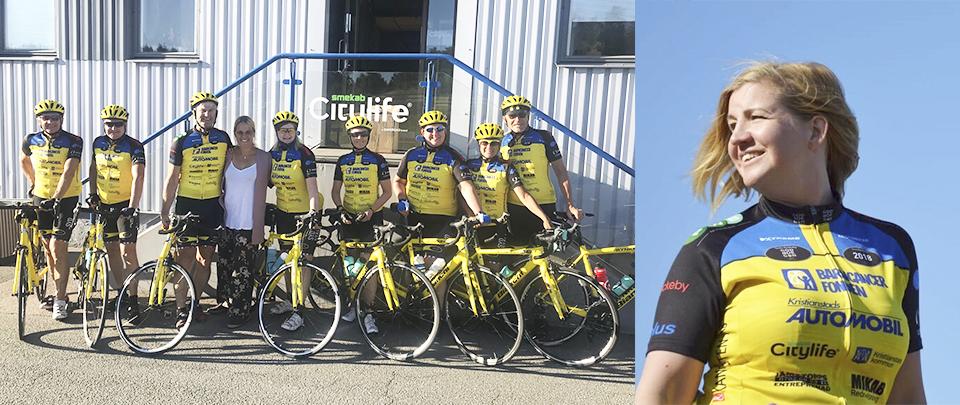 Smekab Citylife stödjer Barncancerfonden och Team Rynkeby Kristianstad 2018